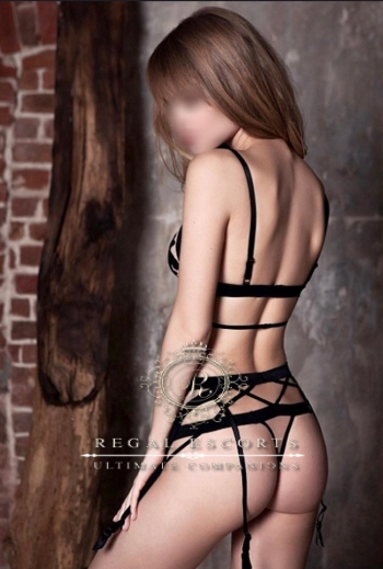 Adelle in strappy lingerie